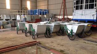 Đóng thùng xe gom rác đẩy tay 400 lít và 500 lít